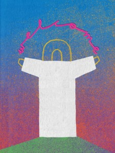 "Plakat ""Welcome"", Anna Libera"